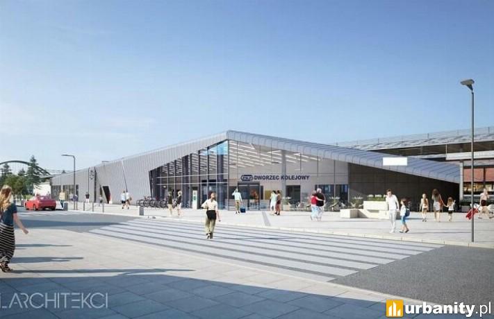 Projekt wyremontowanego dworca we Wrzeszczu