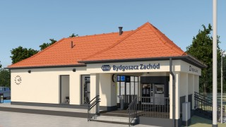 Dworzec Bydgoszcz Zachód - wizualizacja poczekalni