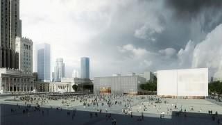 Koncepcja zagospodarowania placu przed Pałacem Kultury i Nauki