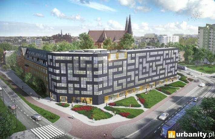 Wizualizacja budynku Starter III przy Borowskiej we Wrocławiu
