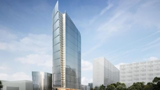 Projekt kompleksu Mennica Legacy Tower w Warszawie