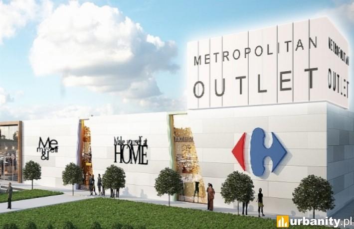 Wizualizacja pierwszego outletu w Bydgoszczy - Metropolitan Outlet