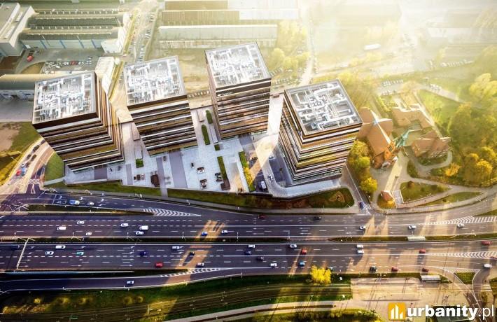 Projekt całego kompleksu Silesia Business Park w Katowicach