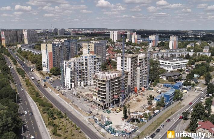 Postęp prac na osiedlu Nowych Kosmonautów - lipiec 2019 r.