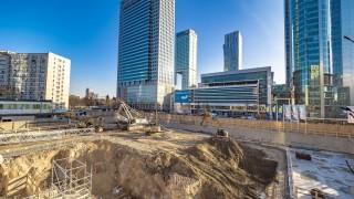 Postęp prac na budowie wieżowca Skysawa - grudzień 2019 r.