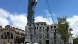 Najwyższy punkt konstrukcyjny apartamentowca Fuzja w Łodzi