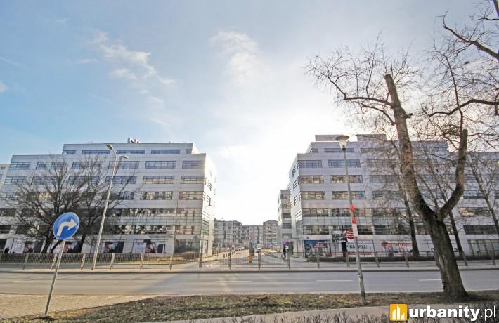 Biurowce przy ulicy Cybernetyki 7 i 7a w Warszawie