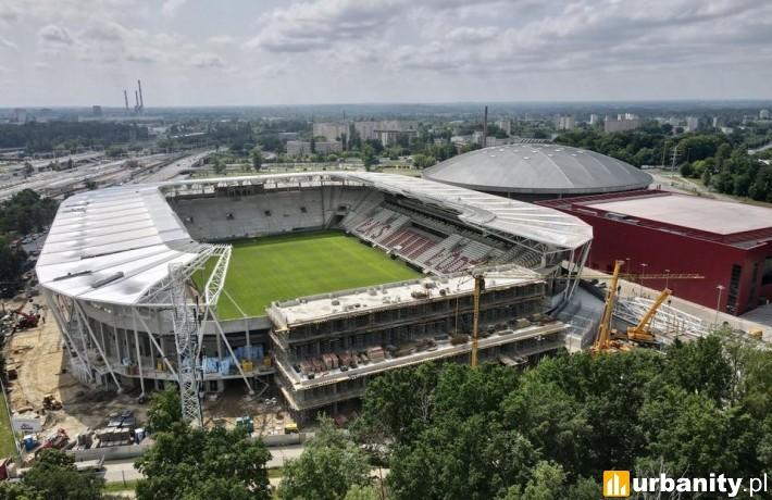 Tak obecnie prezentuje się nowy stadion ŁKS-u (fot. um.lodz.pl)