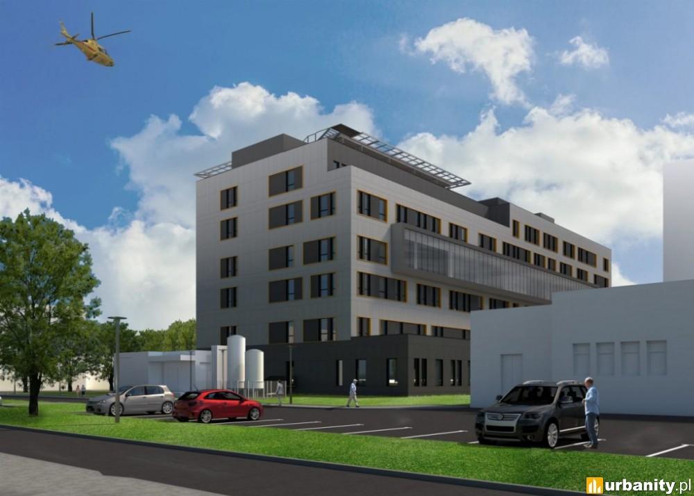 Lądowisko dla śmigłowców na dachu rozbudowanego szpitala w Bydgoszczy