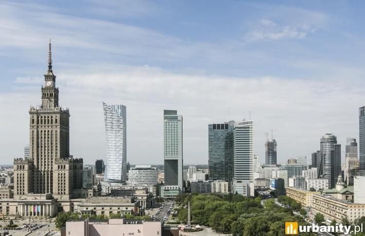 Widok na centrum Warszawy