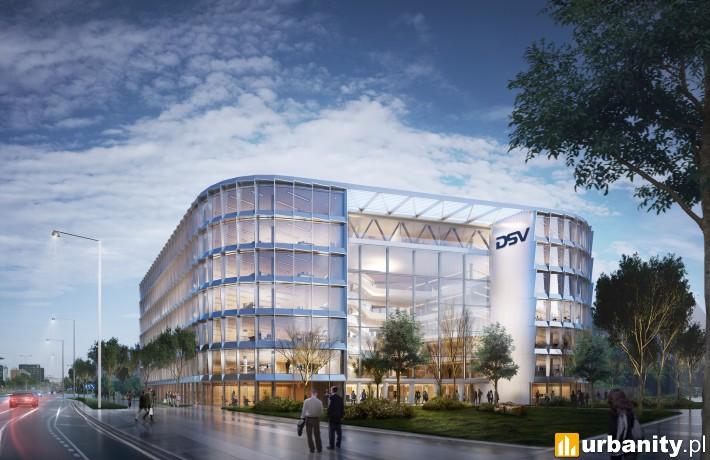 Projekt biurowca DSV w Warszawie