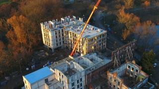 Postęp prac na budowie inwestycji Młyn nad Cybiną