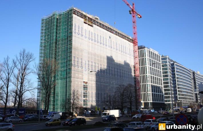 Equator IV w Warszawie - postęp prac budowlanych na grudzień 2017 r.