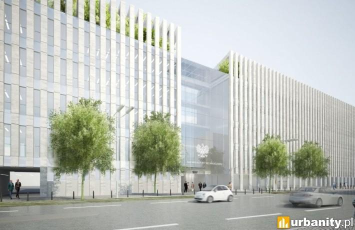 Projekt Sądu Apelacyjnego we Wrocławiu przy ulicy Zielińskiego