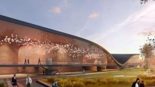 Projekt budynku Centrum Muzyki w Krakowie