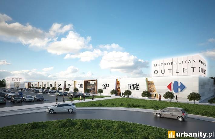 Projekt rozbudowanego i przebudowanego obiektu Metropolitan Outlet w Bydgoszczy
