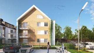 Wizualizacja budynków Alei Lawendowej w Kiełczowie