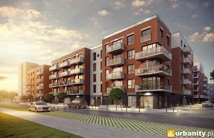 Wizualizacja osiedla Nowa Grobla Apartamenty w Gdańsku