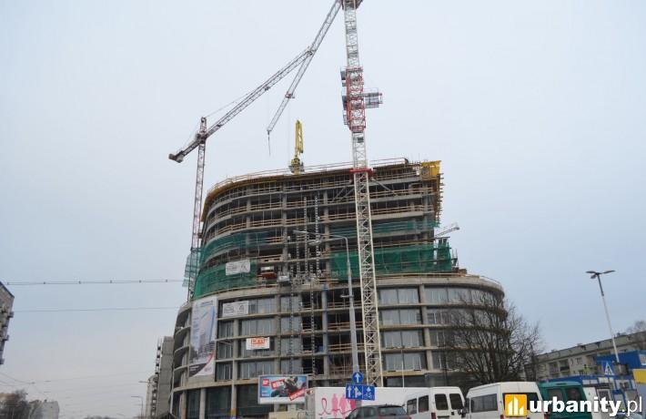 Budowa wieżowca Hanza Tower w Szczecinie