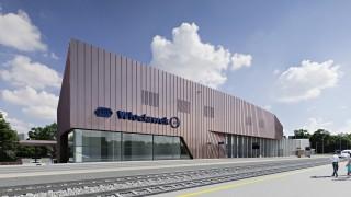 Dworzec we Włocławku - wizualizacja
