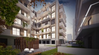 Gold Residence w Warszawie - wizualizacja