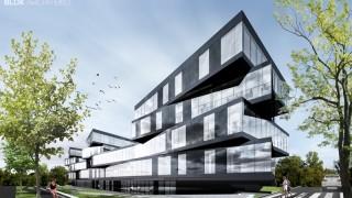 Wizualizacja budynku biurowo-usługowego AK Business Park