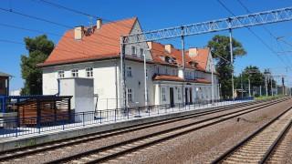 Dworzec Prabuty - widok od strony torów