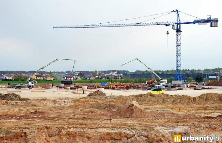 Postęp prac budowlanych na terenie Gemini Park w Tychach