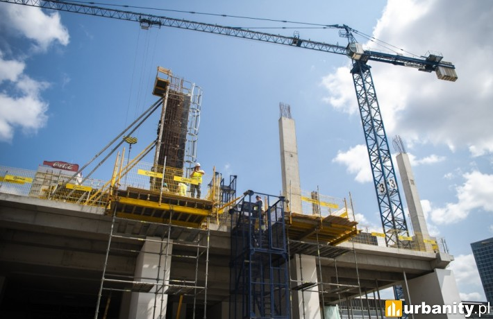 Postępuje budowa nowego gmachu Muzeum Sztuki Nowoczesnej (fot. um.warszawa.pl)
