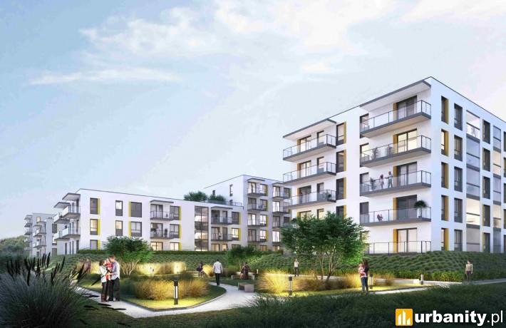 Wizualizacja projektu mieszkaniowego na Białołęce w Warszawie