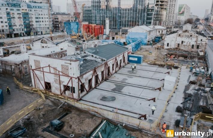 Postęp prac na budowie kompleksu ArtN w Warszawie