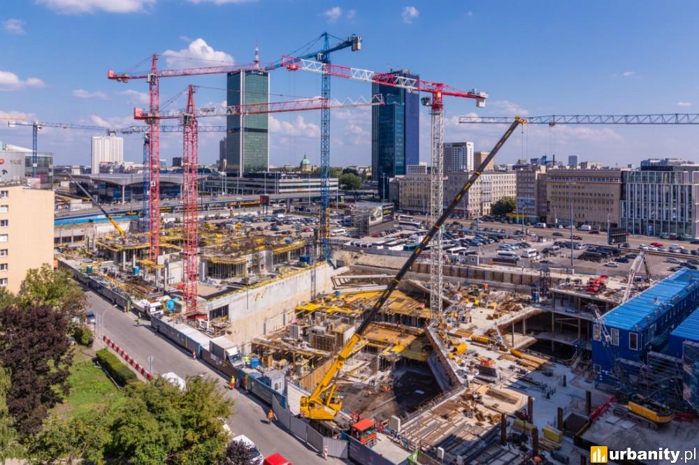 Wkrótce prace fasadowe warszawskiej inwestycji Varso [ZDJĘCIA]