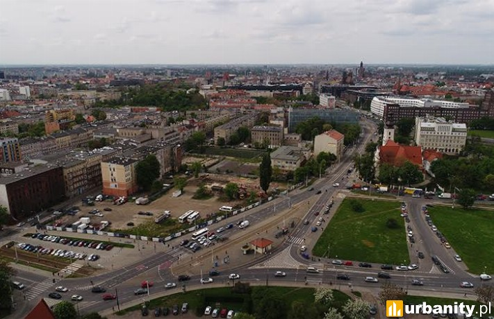 Działka, na której powstanie biurowiec City Forum