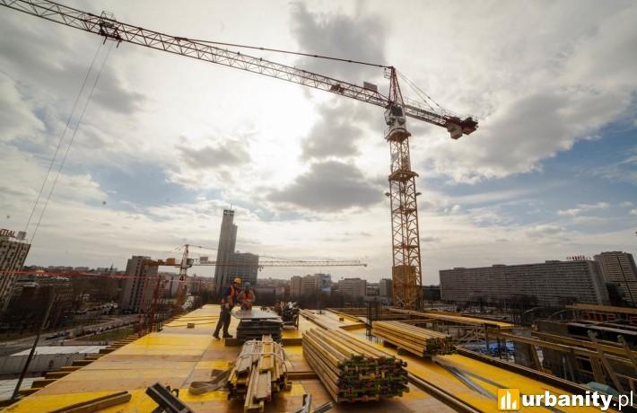 Obecny stan zaawansowania prac budowlanych kompleksu .KTW