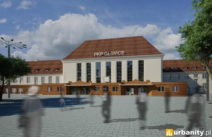 Przebudowany dworzec w Gliwicach