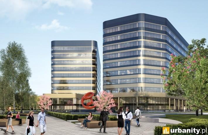 Wizualizacja części biurowej Fabryczna City