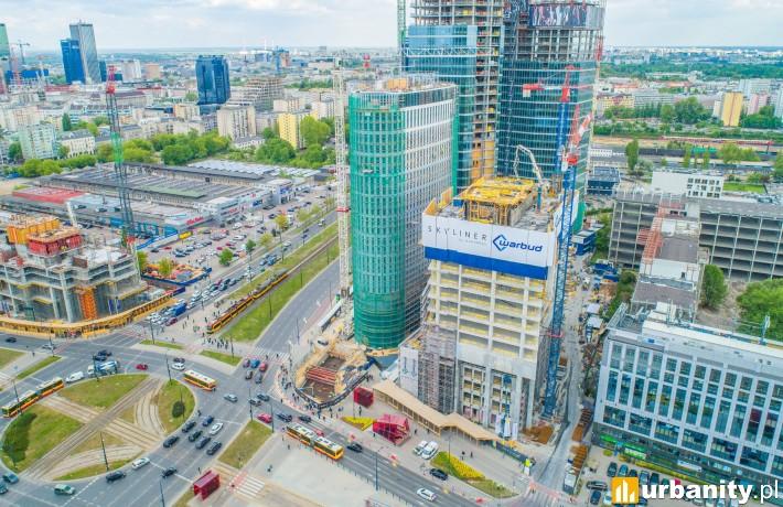 Postęp prac na budowie wieżowca Skyliner (czerwiec 2019 r.)