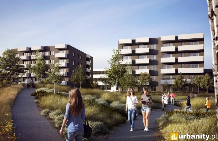 Budynki mieszkalne na osiedlu Wiktoria w Warszawie - wizualizacja