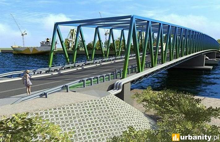 Wizualizacja Mostu Brdowskiego w Szczecinie