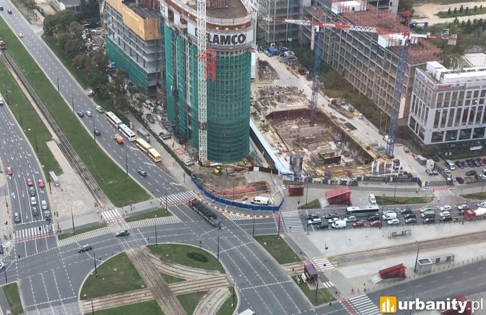 Tak obecnie prezentuje się budowa The Warsaw Hub