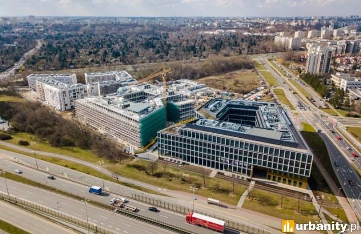 Postęp prac na budowie kompleksu Moje Miejsce w Warszawie