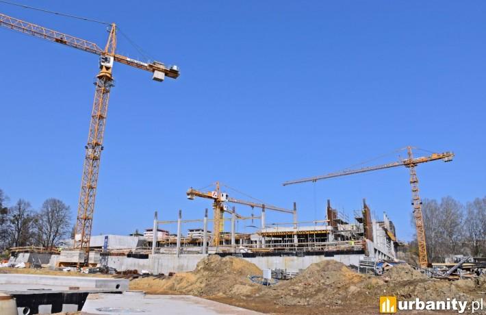 Postęp prac na budowie Fabryki Wody w Szczecinie (fot. szczecin.eu)