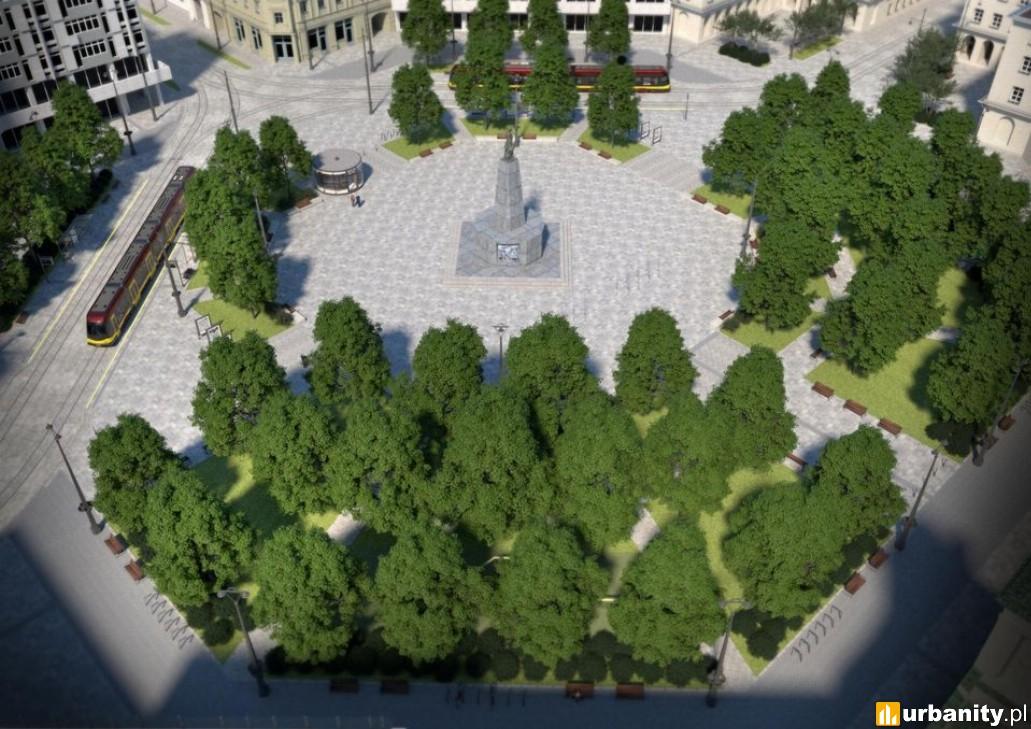 Zobacz jak wyglądał będzie nowy plac Wolności w Łodzi. Spektakularna metamorfoza