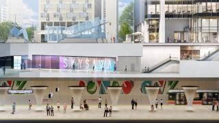 Łącznik ze stacją metra ONZ - wizualizacja