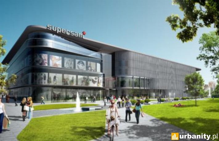 Projekt centrum handlowego Supersam