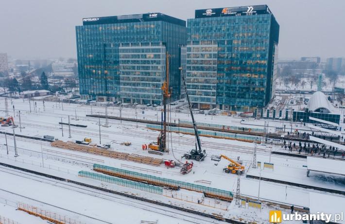 Budowa stacji Warszawa Zachodnia
