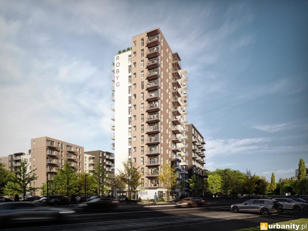 14-piętrowy budynek mieszkalny - pierwsza inwestycja Robyg w Poznaniu