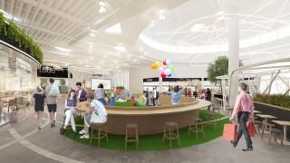 Nowe wnętrza parku handlowego Auchan Bielany