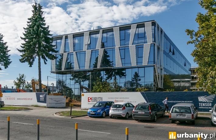 Powstający w Gdyni kompleks biurowy Tensor