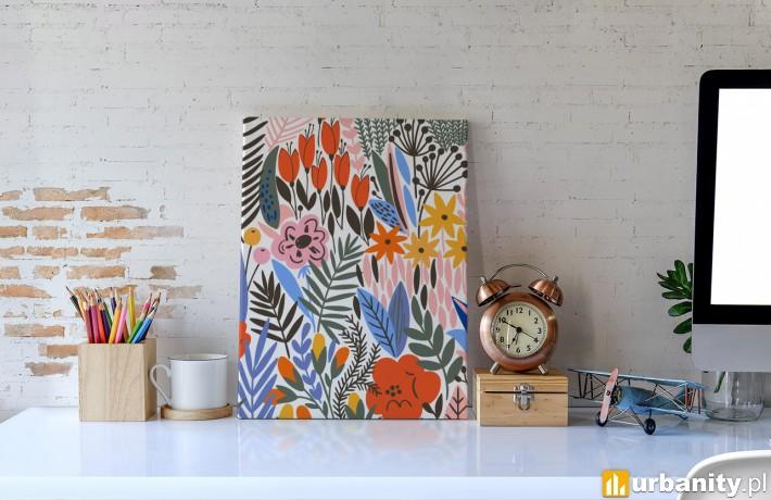 obraz kwiaty na biurko